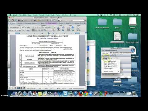 Mail Merge a Word Document on a Mac