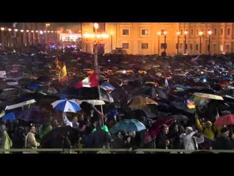Raw: White Smoke Signals New Pope