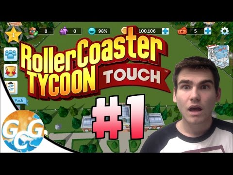 RollerCoaster Tycoon Touch Walkthrough #1 :: JUST STARTING OUT!