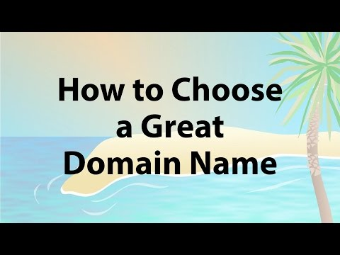 Web Hosting Basics #1 - How to Choose a Great Domain Name for Your Business