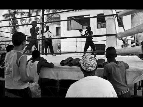 Cuban kids learn to box at the home of Kid Chocolate