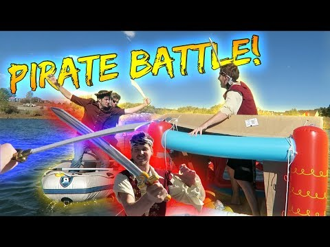INSANE PIRATE RAFT SEA BATTLE!
