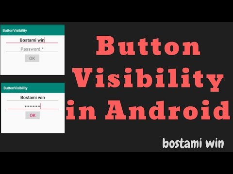how to use visible and invisible for a button in android