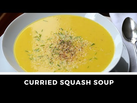 CURRIED SQUASH SOUP WITH COCONUT