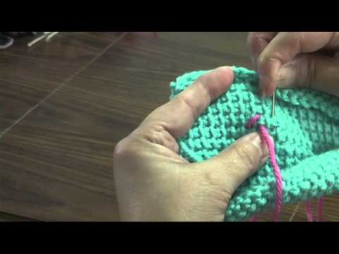 How to cross-stitch on Afghan Stitch