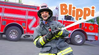 Blippi Songs -Fire Truck Song | Educational Videos For Kids | Nursery Rhymes and Songs