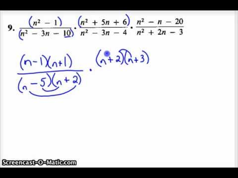 Products and Quotients of Rational Expressions