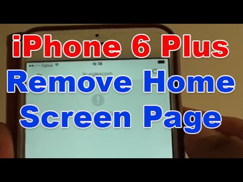 iPhone 6 Plus: How to Remove a Home Screen Page