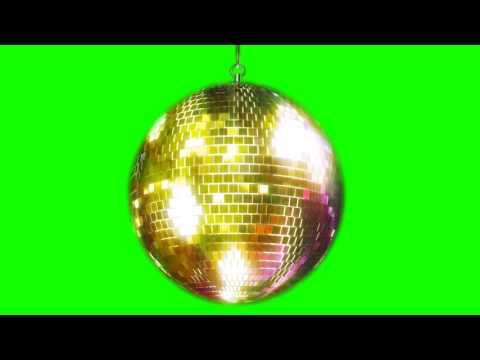 FREE HD Green Screen GOLD MIRROR BALL