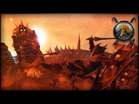 BLOOD KNIGHTS vs GIANT KHOLEK! - Total War: WARHAMMER Mod Gameplay