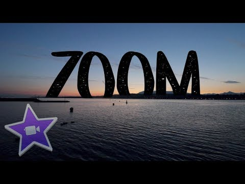 iMovie ZOOM Transition  - Easy Tutorial (10.1.6)