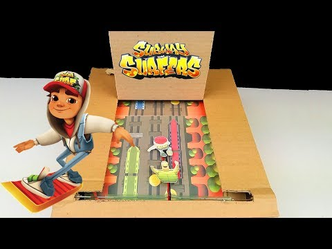 How to Make Subway Surfer Game from Cardboard with Touch Screen