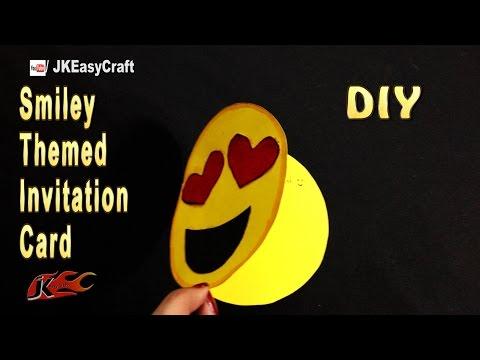 How to make  Emoji Themed Invitation Card | Easy Emoji Party craft ideas | JK Easy Craft 218
