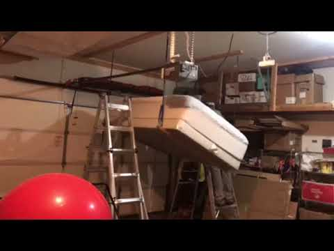Time lapse of garage mattress storage