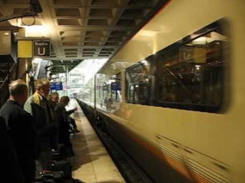 France à l'Angleterre par le train à grande vitesse.