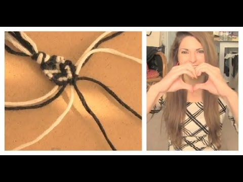 DIY HEART STITCH FRIENDSHIP BRACELET - How To | SoCraftastic