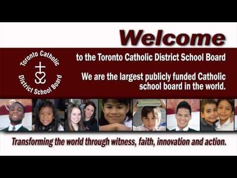 Welcome to the Toronto Catholic District School Board YouTube Channel
