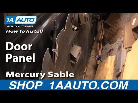 How To Install Replace Remove Door Panel Mercury Sable 00-05 1AAuto.com