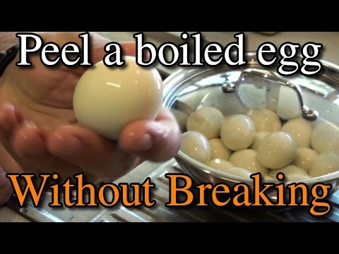 How to Peel a Boiled Egg Without Breaking it   No TRICKS or Hacks