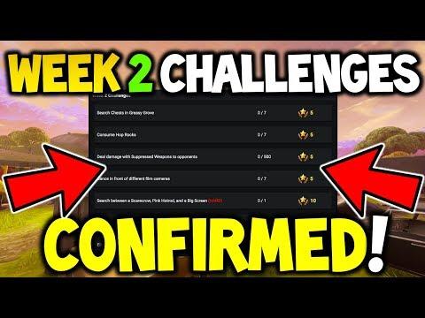 *LEAK* SEASON 4 WEEK 2 CHALLENGES PREVIEW FORTNITE - Season 4 Week 2 - (Battle Royale - Challenges)