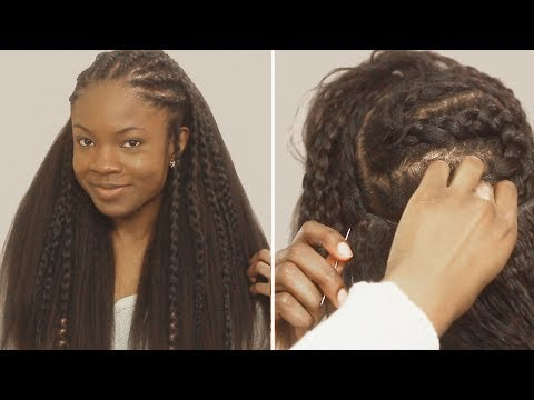 HOW TO: Fulani Braids with Sew in Weave in Back Tutorial