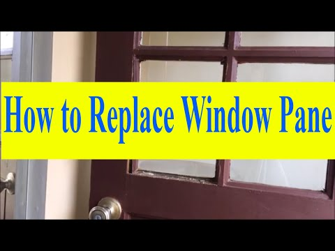 How to Replace Window Pane With Wood Molding