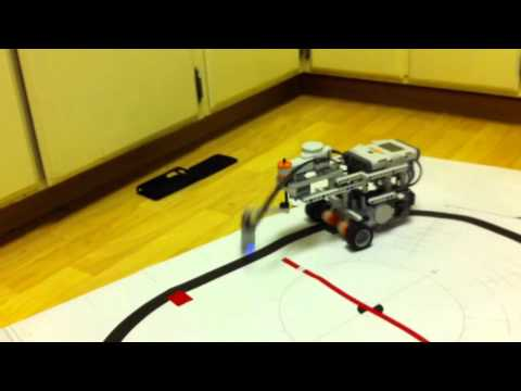Lego NXT Line Following Robot Rotating Sensor