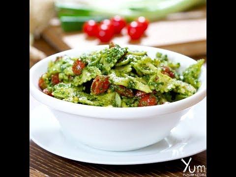 Pesto Pasta With Chicken |  Pesto Pasta With Chicken Recipe