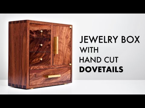 Walnut Jewelry Box with Hand Cut Dovetails 💎 How To - Woodworking