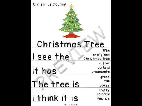 Product Preview: Christmas Journals - Differentiated for Special Education