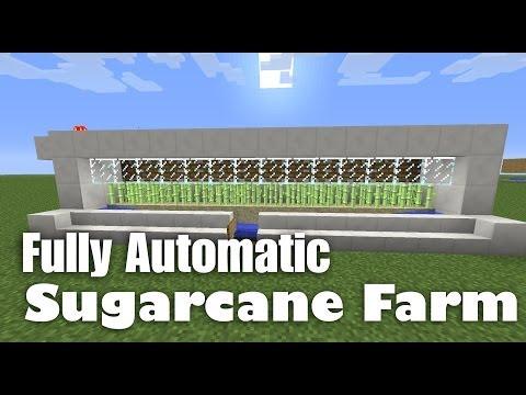 Fully Automatic Sugarcane Farm Tutorial (works in Minecraft 1.12.2)