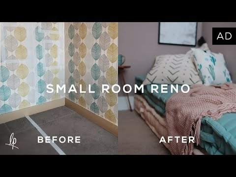 SMALL ROOM RENOVATION: BEFORE & AFTER | Lily Pebbles