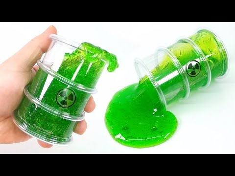 DIY Polluted Radioactive Slime | Contact Lens Solution Slime ! MonsterKids