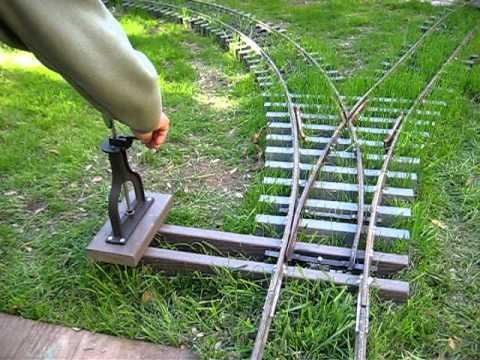 7.5 inch gauge railroad switch stand test
