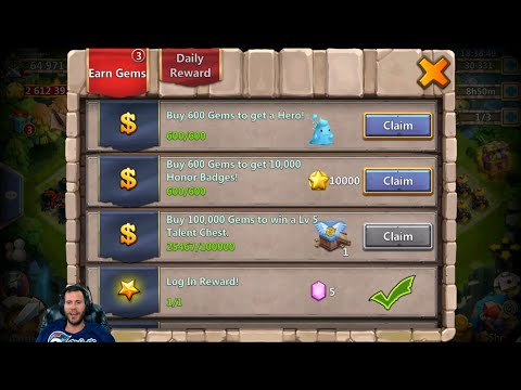 First Time EVER Buying Gems Events + Rolling Heroes GOOD ROLLS Castle Clash