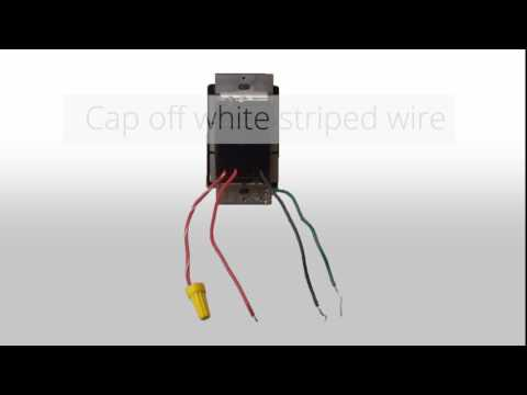 Wiring a 3 Way Dimmer in a Single Pole Application (with Wire Leads)