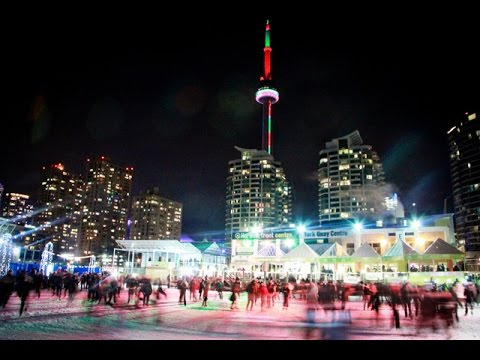 Ice Skating at Harbourfront Centre Downtown Toronto