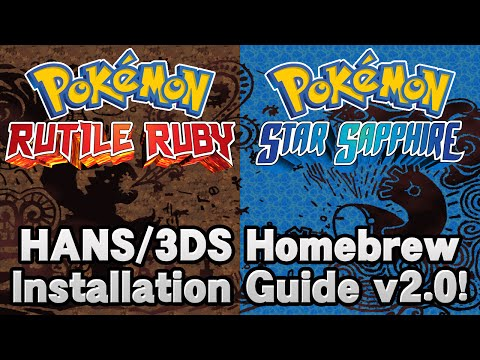 Pokémon Rutile Ruby & Star Sapphire HANS Installation Tutorial v2 0! -  playithub com