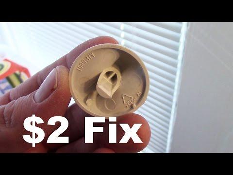 $2 Fix for Broken Dryer Knobs - GE, Whirlpool, Kenmore, Hotpoint