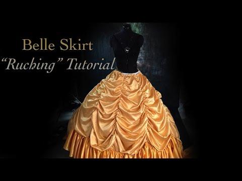 Belle Cosplay - Skirt 'Ruching' Tutorial