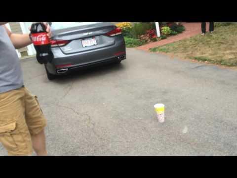 Exploding a Coke Bottle In My Driveway