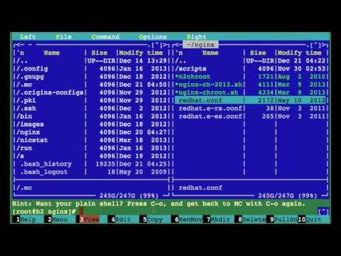 RHEL / CentOS Linux Install GNU Midnight Commander Tutorial