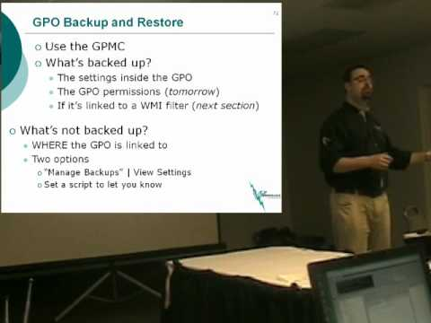 GPO: Backup and Restore 101