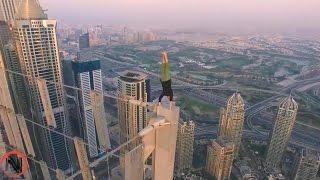 #x202b;خطير جدا - الصعود و حركات فوق المباني العاليه - لو اعصابك حديد اتفرج - اثاره #1#x202c;lrm;