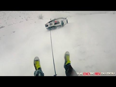 Tubing behind the Aventador