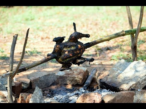 Spit Roasted Chicken Recipe |  Bush Campfire Cooking