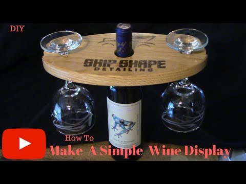 How to make a simple wine display!!