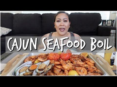 CAJUN SEAFOOD BOIL MUKBANG (EATING SHOW)