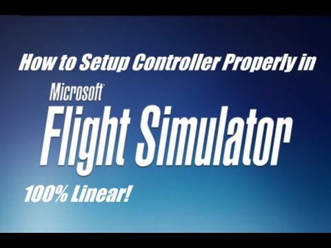 FSX - How to setup your joystick/controller properly! (100% Linear!)