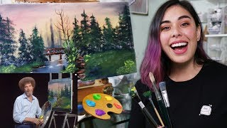 I Tried Following A Bob Ross Painting Tutorial #TeamTrees